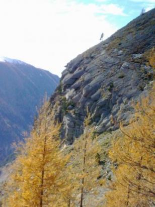 Les beaux rochers du massifs