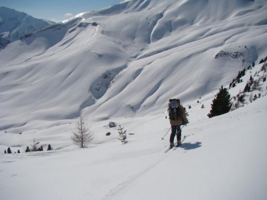 Arrivée en ski