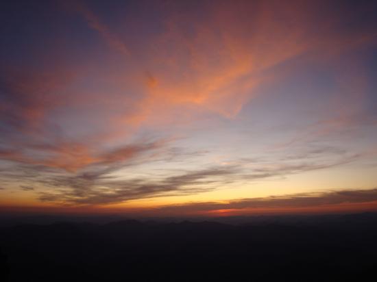 Coucher de soleil depuis le sommet